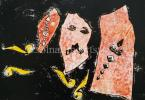 Endre Bálint  Scattered his Wealth, 1969  19×27cm monotype on paper Signed bottom right:  Bálint 1969 Zsennye  Reproduced, Exhibited
