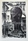 Eugen Kron  The Man of the Sun, 8.  1927  44,5×30,5cm, lithograph on paper. numbered, singned