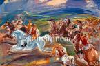 Gallop, 1951 69×98cm oil on board No Sign. Exhibited, Reproduced