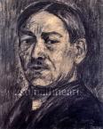 István Nagy Self-portrait, c.1924 36×29cm coal on cardboard Signed bottom right: Nagy István