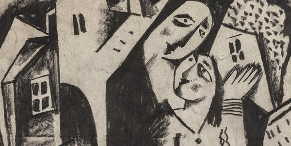 Béla Kádár (1877-1956)  Lovers c'1920 years